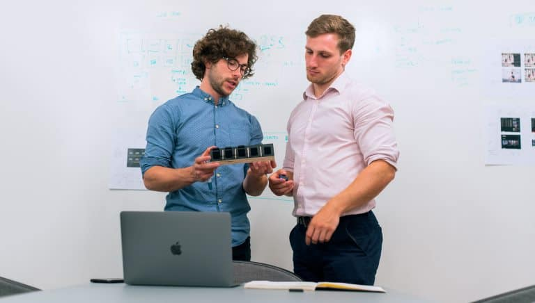 two guys doing something R&D related!